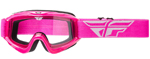 Fly Racing MX Motocross MTB BMX 2018 FOCUS Goggles (Pink w/ Clear Lens)