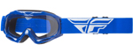 Fly Racing MX Motocross MTB BMX Kids FOCUS Goggles (Blue w/ Clear Lens)