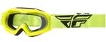 Fly Racing MX Motocross MTB BMX Kids FOCUS Goggles (Hi-Vis w/ Clear Lens)