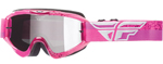 Fly Racing MX Motocross MTB BMX 2018 ZONE Composite Goggles (Grey/Pink)