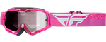 Fly Racing MX Motocross MTB BMX Kids ZONE Composite Goggles (Grey/Pink)