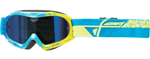 Fly Racing MX Motocross MTB BMX Kids ZONE Composite Goggles (Blue/Hi-Vis)