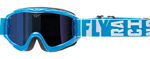 Fly Racing MX Motocross MTB BMX 2018 ZONE Turret Goggles (Blue w/ Blue Mirror/Smoke Lens)