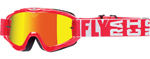 Fly Racing MX Motocross MTB BMX 2018 ZONE Turret Goggles (Red w/ Fire Mirror/Smoke Lens)