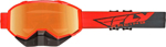 Fly Racing Focus Snow Goggles (Hi-Vis Orange/Grey w/Orange Mirror Lens)