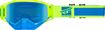 Fly Racing Zone Snow Goggles (Blue/Hi-Vis w/Blue Mirror Lens)