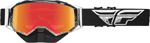 Fly Racing Zone Snow Goggles (Black/White w/Red Mirror Lens)