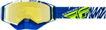 Fly Racing Zone Pro Snow Goggles (Blue/White/Hi-Vis w/Yellow Polarized Lens)