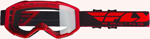 Fly Racing MX Motocross 2019 Focus Goggles (Red w/Clear Lens)