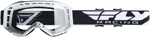 Fly Racing MX Motocross Kids Youth 2019 Focus Goggles (White w/Clear Lens)