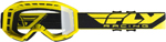 Fly Racing MX Motocross 2019 Focus Goggles (Yellow w/Clear Lens)