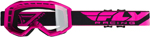 Fly Racing MX Motocross Kids Youth 2019 Focus Goggles (Hi-Vis Pink w/Clear Lens)