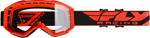 Fly Racing MX Motocross Kids Youth 2019 Focus Goggles (Hi-Vis Orange w/Clear Lens)