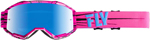 Fly Racing MX Motocross 2019 Zone Goggles (Pink/Teal w/Sky Blue Mirror Lens)