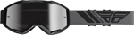 Fly Racing MX Motocross Kids Youth 2019 Zone Goggles (Black w/Silver Mirror Lens)