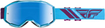 Fly Racing MX Motocross 2019 Zone Goggles (Orange/Blue w/Blue Mirror Lens)