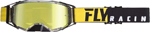 Fly Racing MX Motocross 2019 Zone Pro Goggles (Black/Yellow w/Gold Mirror Lens)