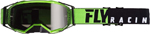 Fly Racing MX Motocross 2019 Zone Pro Goggles (Black/Green w/Dark Smoke Lens)