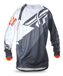 FLY RACING MX Motocross MTB BMX Kids 2017 EVOLUTION 2.0 Jersey (Black/White/Orange)