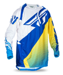 FLY RACING MX Motocross MTB BMX Kids 2017 EVOLUTION 2.0 Jersey (Blue/Yellow/White)