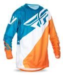 FLY RACING MX Motocross MTB BMX Kids 2017 EVOLUTION 2.0 Jersey (Orange/Dark Teal)