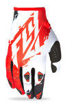 FLY RACING MX Motocross MTB BMX 2017 KINETIC Gloves (Red/White)