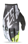 FLY RACING MX Motocross MTB BMX 2017 KINETIC Gloves (Black/Hi-Vis)
