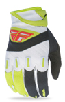 FLY RACING MX Motocross MTB BMX 2017 F-16 Gloves (Black/Lime)