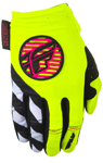 Fly Racing MX Motocross MTB BMX 2018 Girl's KINETIC Gloves (Neon Pink/Hi-Vis)
