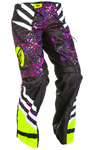 Fly Racing Motocross Offroad 2018 Girl's KINETIC O.T.B. Pants (Neon Pink/Hi-Vis)