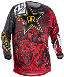 Fly Racing MX Motocross MTB BMX 2018 Men's Kinetic ROCKSTAR Jersey (Red/Black)