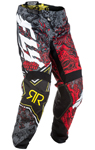 Fly Racing MX Motocross MTB BMX 2018 Men's Kinetic ROCKSTAR Pants (Red/Black)