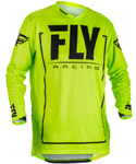 Fly Racing MX Motocross MTB BMX 2018 Men's LITE HYDROGEN Jersey (Hi-Vis/Black)