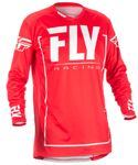 Fly Racing MX Motocross MTB BMX 2018 Men's LITE HYDROGEN Jersey (Red/Grey)