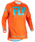 Fly Racing MX Motocross MTB BMX 2018 Men's LITE HYDROGEN Jersey (Orange/Blue)