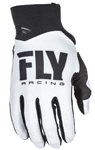 Fly Racing MX Motocross MTB BMX 2018 Men's PRO LITE Gloves (White/Black)