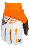 Fly Racing MX Motocross MTB BMX 2018 Kids F-16 Gloves (Orange/White)