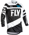 Fly Racing MX Motocross MTB BMX 2018 Kids F-16 Jersey (Black/White)