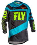 Fly Racing MX Motocross MTB BMX 2018 Kids F-16 Jersey (Blue/Black)