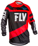 Fly Racing MX Motocross MTB BMX 2018 Kids F-16 Jersey (Red/Black)