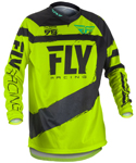 Fly Racing MX Motocross MTB BMX 2018 Men's F-16 Jersey (Black/Hi-Vis)