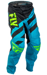 Fly Racing MX Motocross MTB BMX 2018 Kids F-16 Pants (Blue/Black)