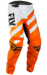 Fly Racing MX Motocross MTB BMX 2018 Kids F-16 Pants (Orange/White)