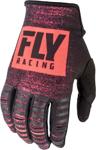 Fly Racing MX Motocross Kinetic Noiz Gloves (Neon Red/Black)