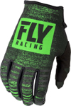 Fly Racing MX Motocross Kinetic Noiz Gloves (Neon Green/Black)