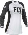 Fly Racing MX Motocross Girls Youth Lite Jersey (White/Black)