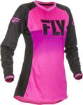 Fly Racing MX Motocross Girls Youth Lite Jersey (Neon Pink/Black)