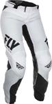 Fly Racing MX Motocross Girls Youth Lite Pants (White/Black)