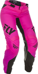 Fly Racing MX Motocross Girls Youth Lite Pants (Neon Pink/Black)