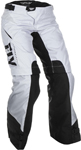 Fly Racing MX Motocross Women's Over The Boots Pants (White/Black)